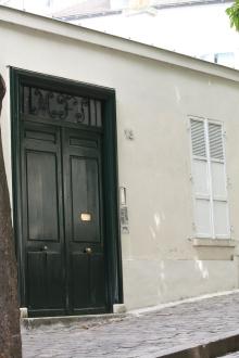 Inngangsdøren til Picassos hjem og arbeidsted